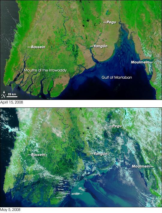 La Birmanie avant et après le cyclone NARGIS