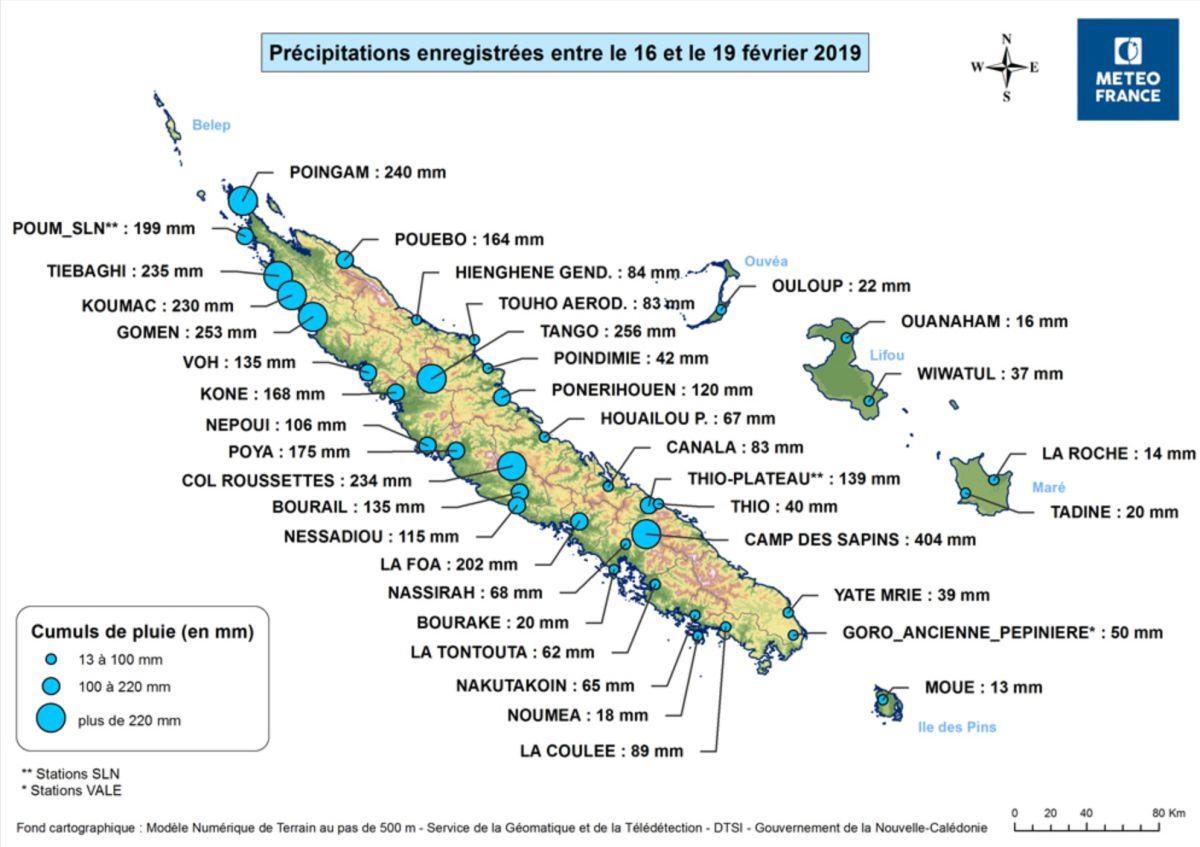 OMA : cumul pluviométrique en Nouvelle Calédonie