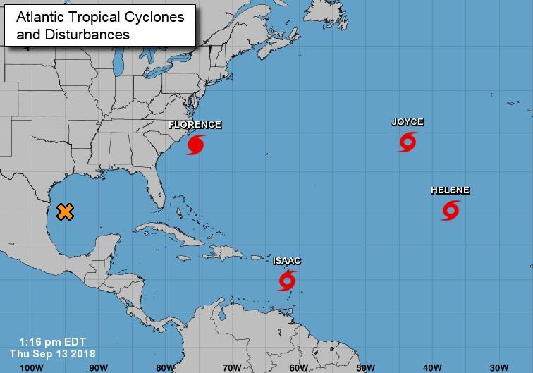 Situation cyclonique dans l'atlantique nord ©NHC