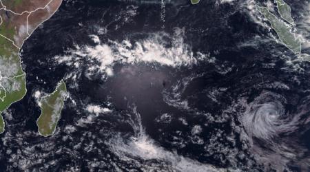 Image satellite océan indien