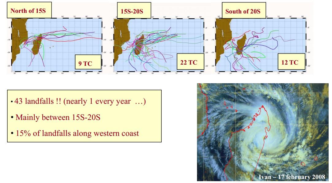 43 cyclones en 45 ans à Madagascar