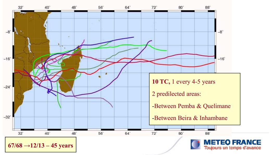 10 cyclones en 45 ans au Mozambique