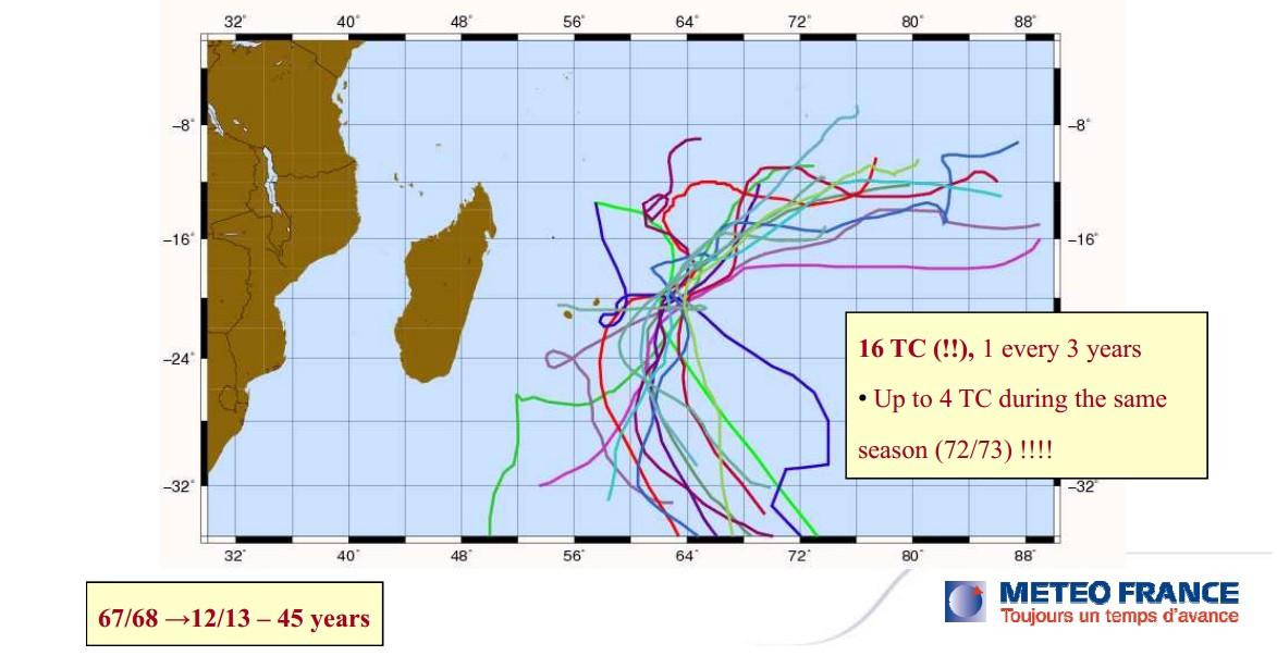 16 cyclones en 45 ans à Rodrigues