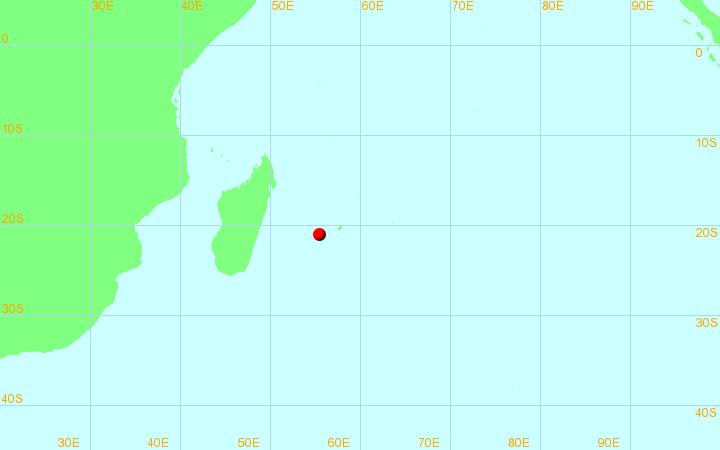 Zone de responsabilité du CMRS de la Réunion (OMM)