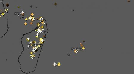 Orage dans l'océan indien