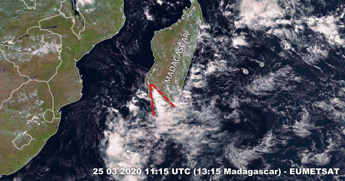 Violent orage dans le Sud de Madagascar