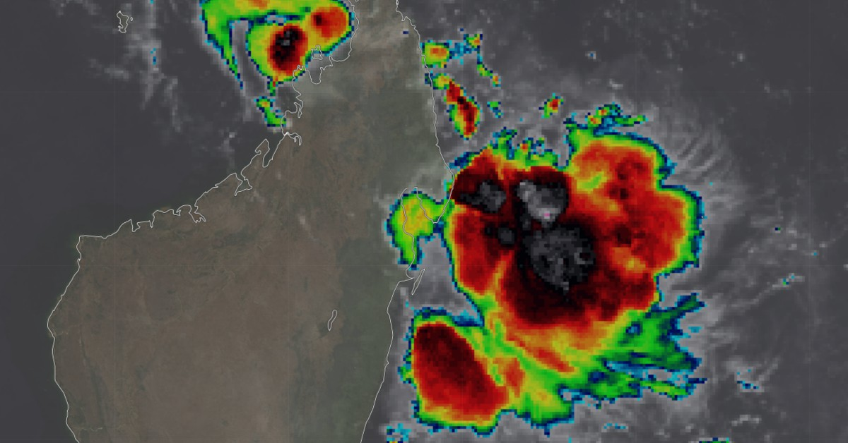 Orage au large de Madagascar
