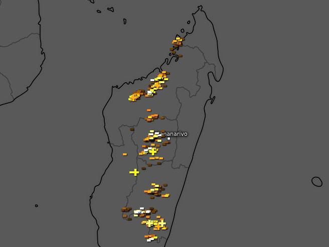 Activité orageuse Madagascar