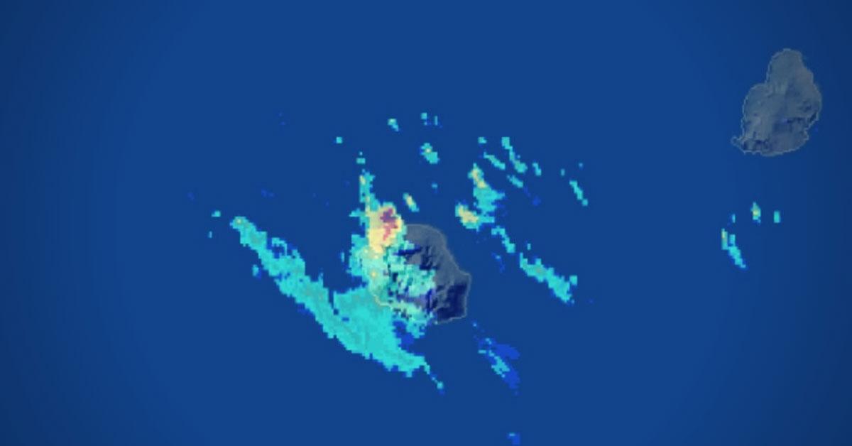 Imagerie radar de la Réunion