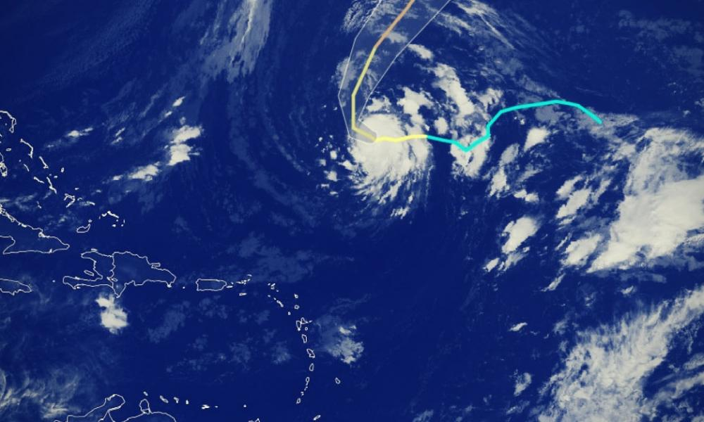 Oscar ouragan de categorie 1 arc des antilles