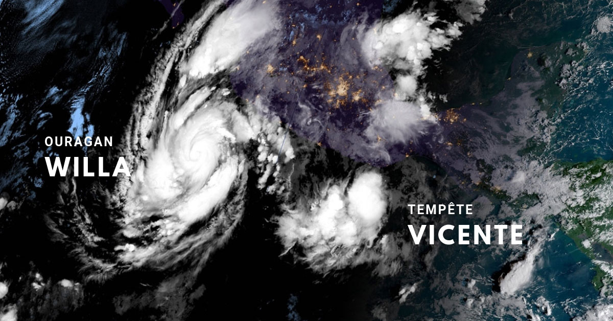 Ouragan willa tempete vicente