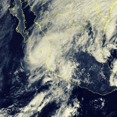 Ouragan willa vers le mexique