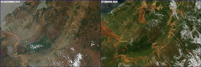 Image satellite du nord-ouest de Madagascar