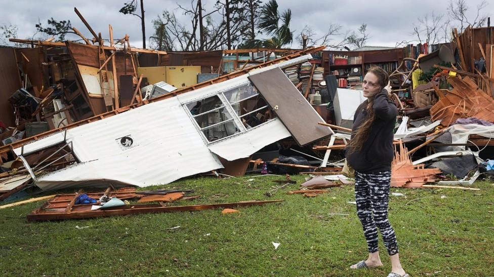 Panama city ravagée par l'ouragan Michael
