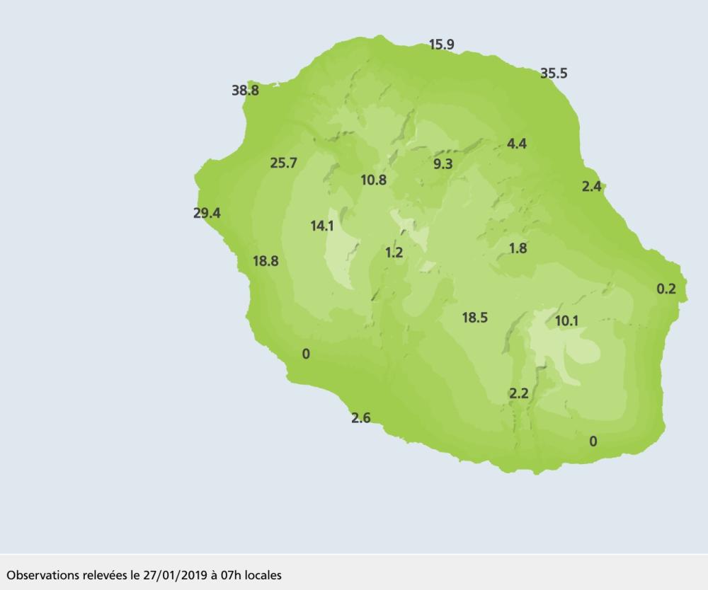 Cumul pluviométrique sur 24h
