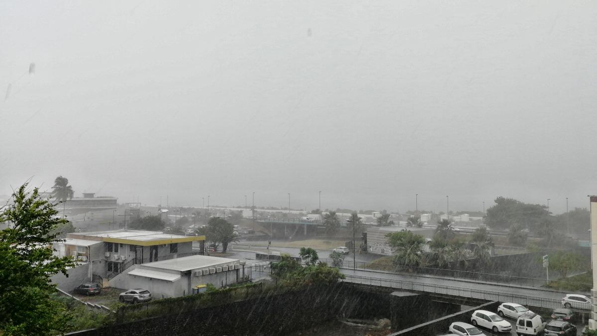 Pluie à Saint-Denis de la Réunion