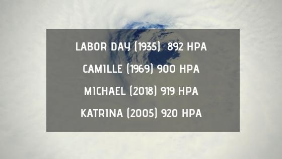 Top 4 cyclones les plus creux à frapper les Etats-Unis