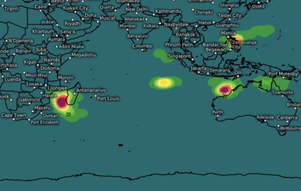 Probabilité formation tempête tropicale