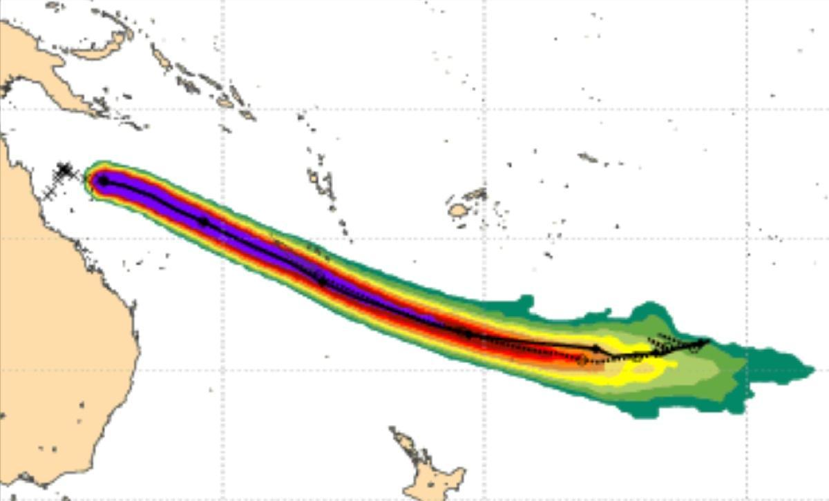 Probabilite impact cyclone niran nouvelle caledonie