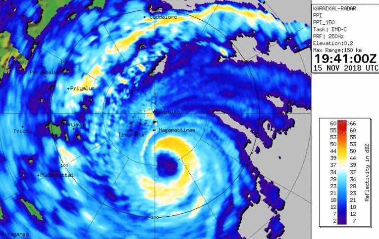 Image radar cyclone GAJA