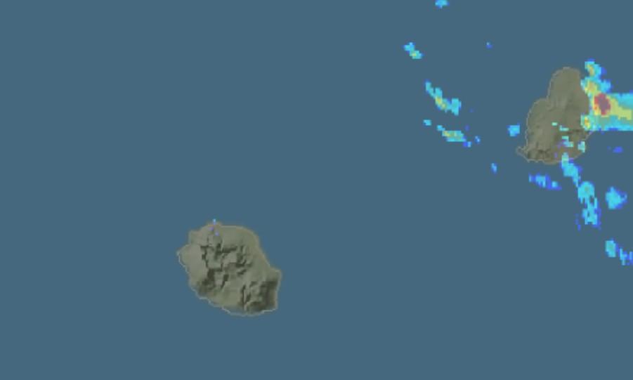 Orage à l'île Maurice