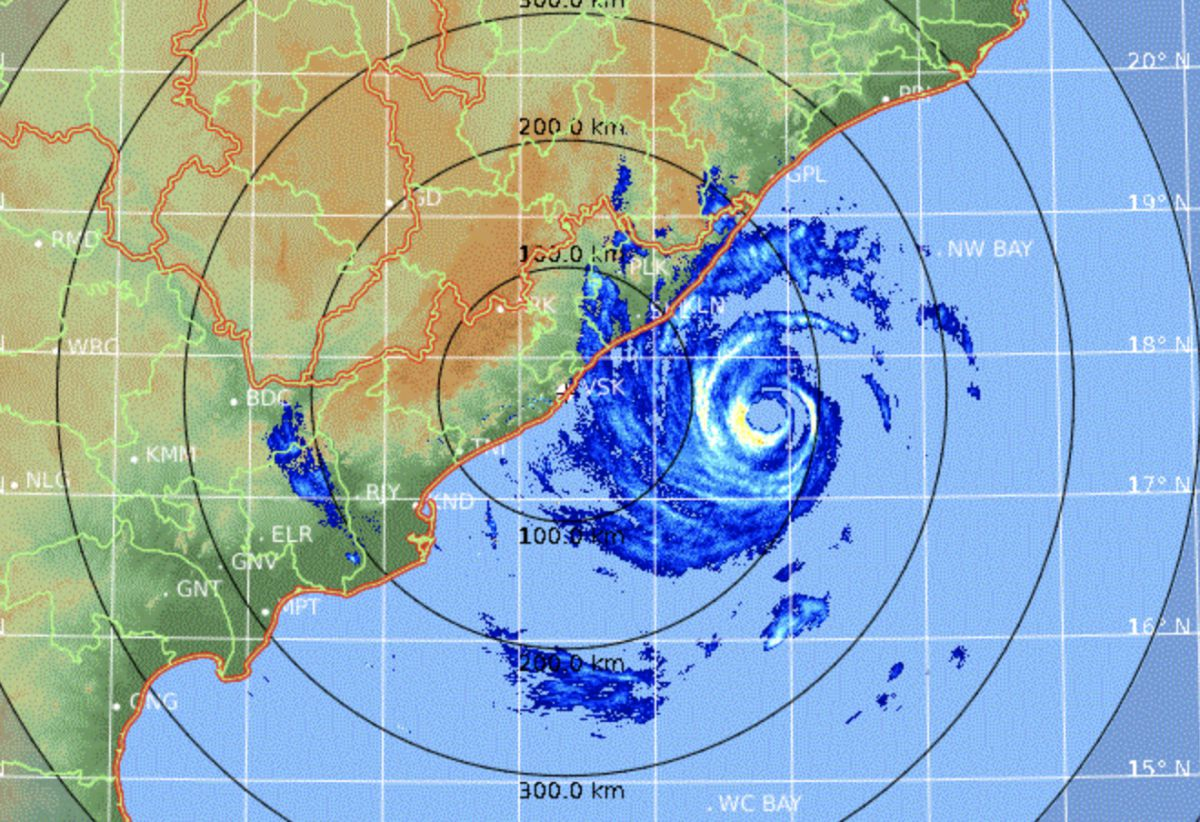 Radar cyclone fani