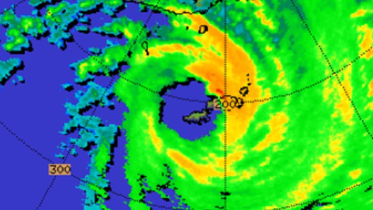 Radar cyclone harold