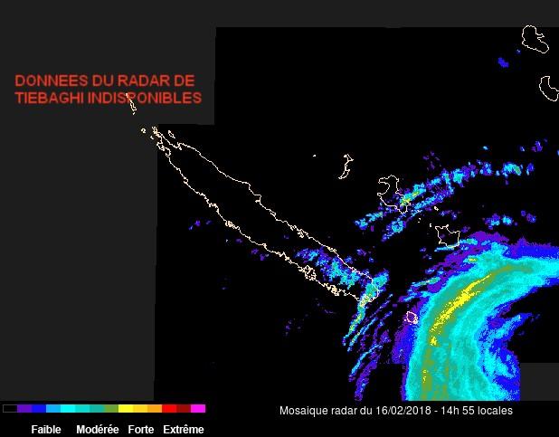 Image radar Nouvelle Calédonie (Météo France)