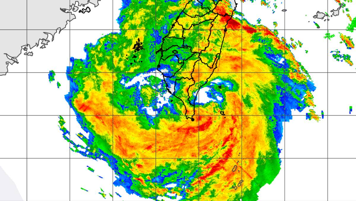 Radar storm bailu taiwan