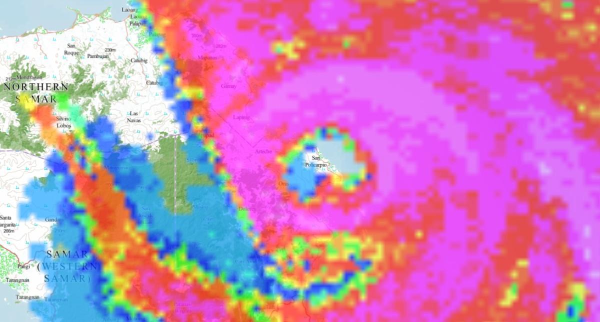 Radar typhoon vongfong