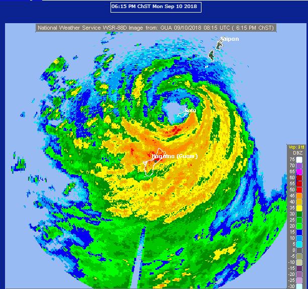 Image radar Guam ©NOAA