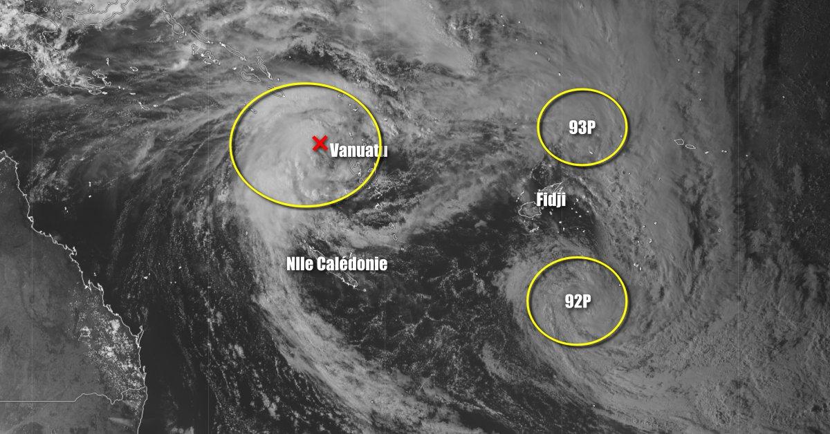 Tempête tropicale au nord de la Nouvelle Calédonie