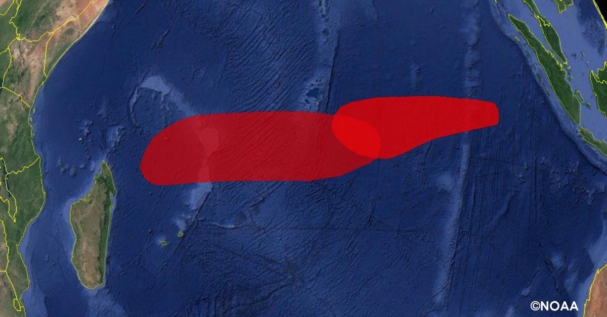Risque de cyclogenese dans ocean indien 1