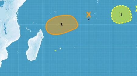 Risque de cyclogenese dans ocean indien