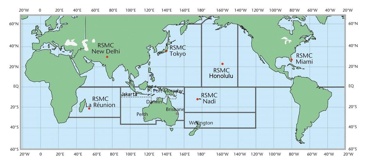 Les CMRS et TCWC (OMM)