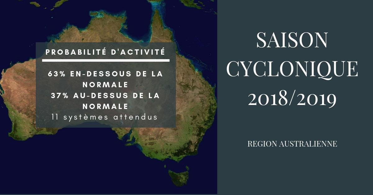 Tendance pour la saison cyclonique 2018 2019 en Australie