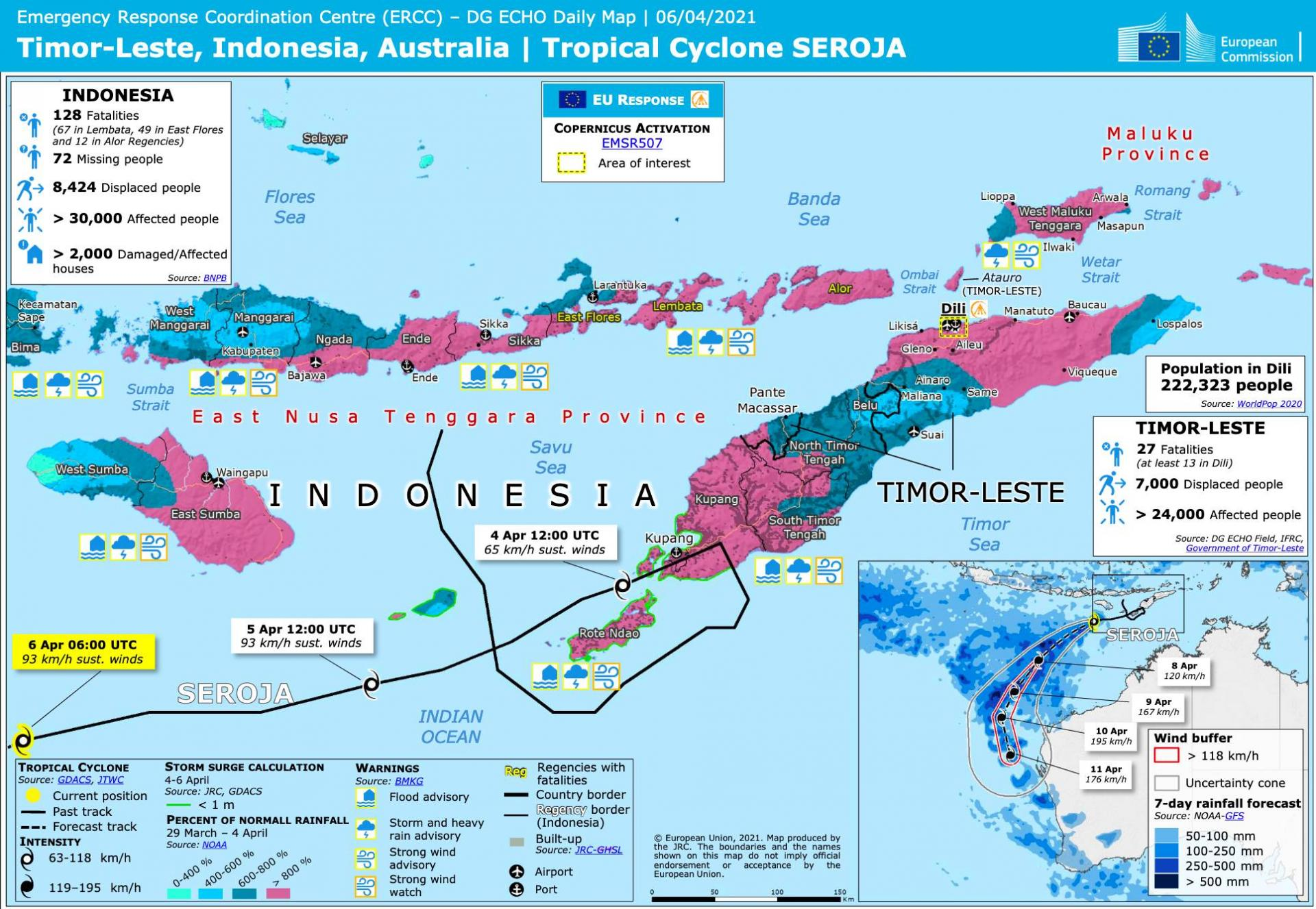 Seroja indonesie timor leste