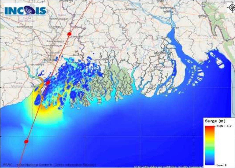 Storm surge cyclone amphan