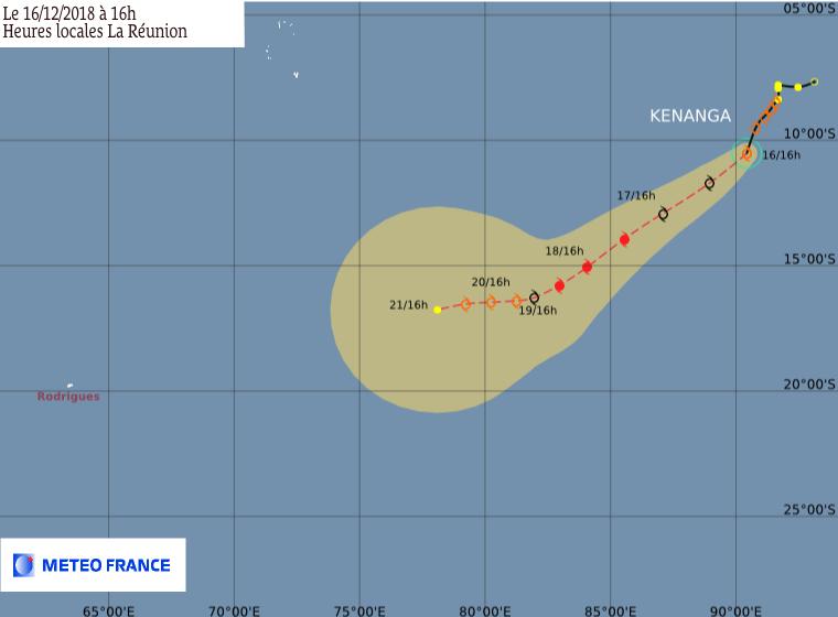 prevision trajectoire tempête tropicale kenanga