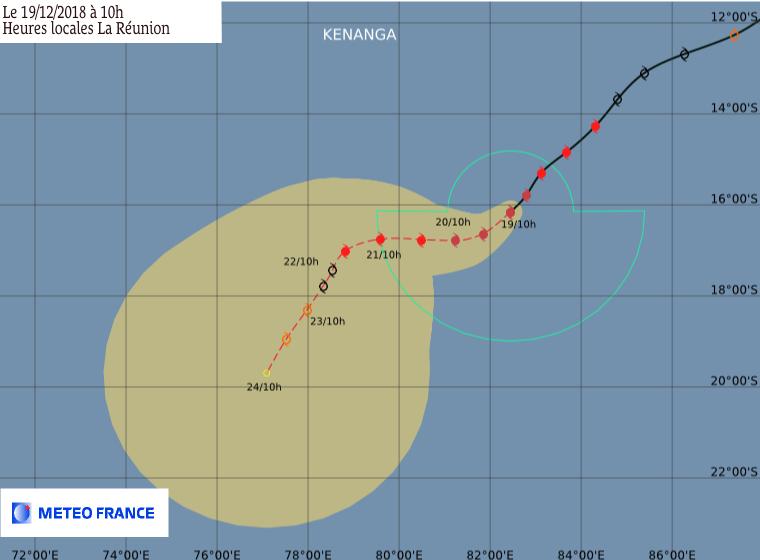 trajectoire cyclone kenanga