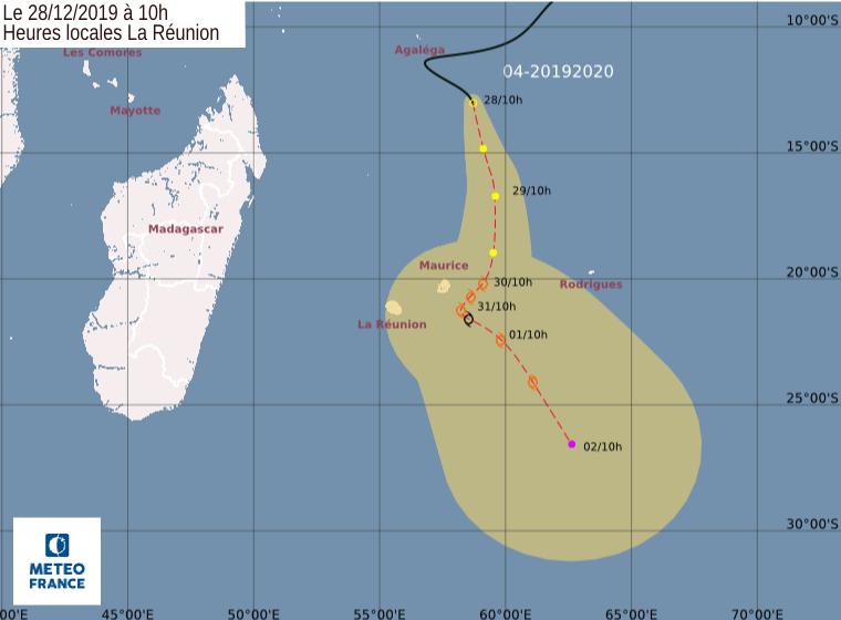 trajectoire tempête tropicale Calvinia