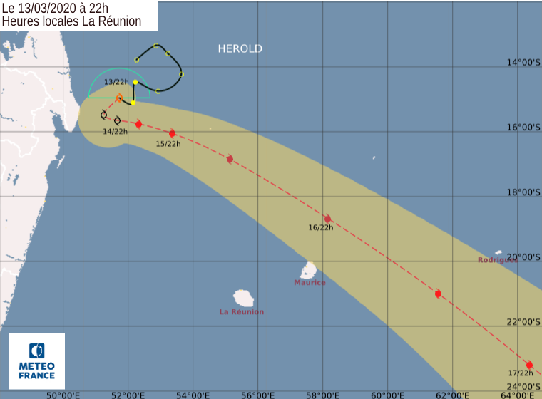 trajectoire tempete tropicale herold