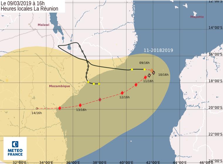 prevision trajectoire et intensité IDAI