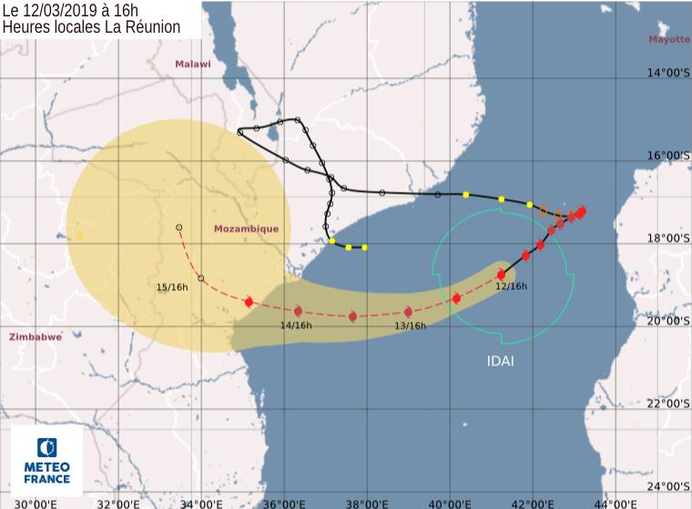 trajectoire cyclone idai