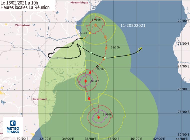 future tempête Guambe