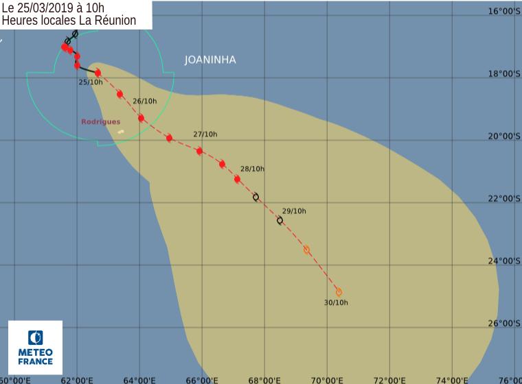 trajectoire cyclone joaninha