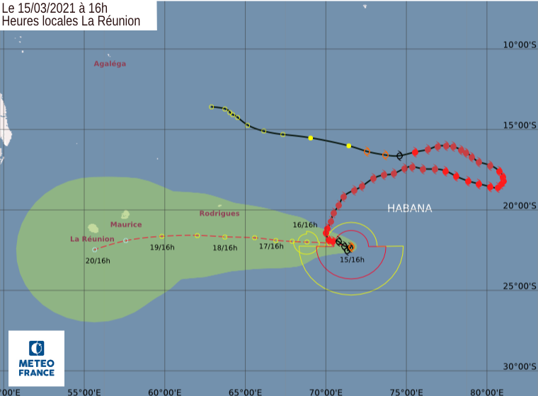 trajectoire cyclone tropical intense habana