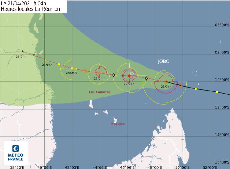 trajectoire cyclone jobo