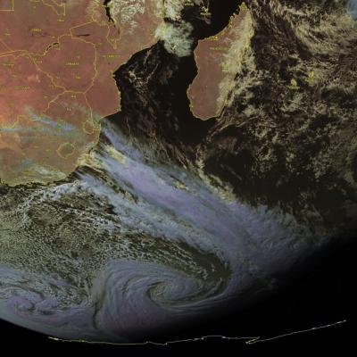 Tempe te polaire ocean indien
