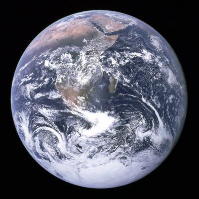 La Terre prise par Apollo 17 le 7 décembre 1972
